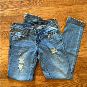 Jessica Simpson Cropped Distressed Jeans